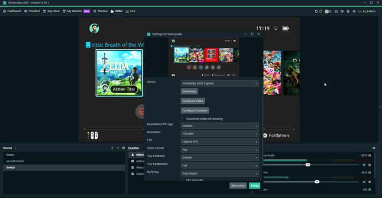capture card streaminglabs obs